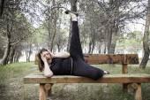Female gymnast — Stock Photo