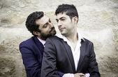 Male homosexual couple — Stock Photo