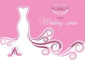 Wedding dress — Stock Vector