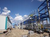 RUSSIA, NADYM - JUNE 6, 2011: Corporation GAZPROM in Novy Ureng — Foto Stock