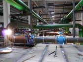 RUSSIA, NADYM - JUNE 8, 2011: Equipment of corporation GAZPROM. — Stock Photo