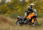 Buzuluk, Russia - September 25, 2010: riding the motorcycle in t — Stock Photo
