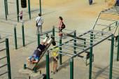 Samara, Russia - August 23, 2014: strangers on the Playground ex — Stockfoto