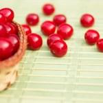 Organic Cherries in a Basket — Stock Photo #69079917