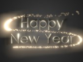 Happy new year.holiday background with golden text — Stock Photo