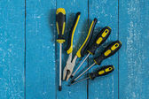 Repair Tools: screwdrivers and pliers  — Stock Photo