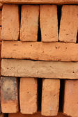 Alternating Adobe Bricks — Stock Photo