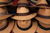 Panama Hats at the Market — Stock Photo