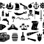 Pirates icons set — Stock Vector #55589623