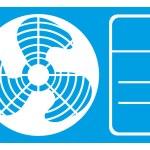 Air conditioner icon — Stock Vector #55589769