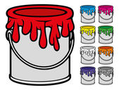Buckets of paint collection — Stock Vector