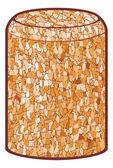 Wine cork vector illustration — Stock Vector