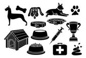 Dog icons set — Stock Vector