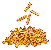A pile of french fries — Stock Vector