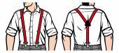 Man with suspenders — Stock Vector