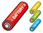 AA batteries — Stock Vector