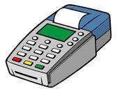 Credit card terminal — Stock Vector