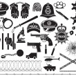 Police icons set — Stock Vector #76896557