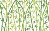 Hastes de bambu verde — Vetor de Stock