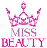 Miss beauty text — Stock Vector