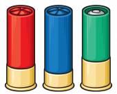 Colorful shotgun shells — Stock Vector