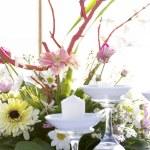 Romantic table setup on tropical beach — Stock Photo #55275163