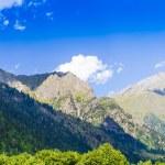Beautiful view of alpine meadows. Upper Svaneti, Georgia, Europe — Stock Photo #55276487