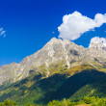 Beautiful view of alpine meadows. Upper Svaneti, Georgia, Europe — Stock Photo #55276517
