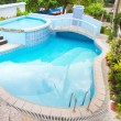 Luxury holiday villa apartments with pool — Stock Photo #55276785