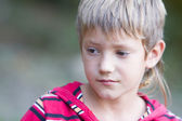 Outdoor portrait of young child boy  — Stock Photo