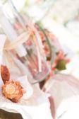Wedding decoration details, tropcal wedding set up — Stock Photo