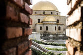 Old mosque view through brick walls — Stock Photo