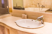 Bathroom with a washbasin, hotel bathroom interior — Stockfoto