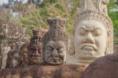 The amazing faces at the Bayon Temple, Siem Riep, Cambodia. Face — Stock Photo