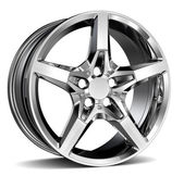 Alloy Wheel Rim isolated on white — Stock Photo