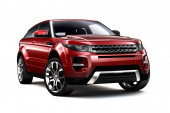Compact red SUV — Stock Photo