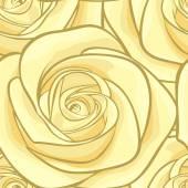 Beautiful seamless background with yellow roses. — Stockvektor