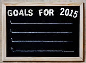 Goals for 2015 - new year plans concept — Stock Photo