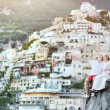 Young bride and groom relaxing and smiling after wedding in Positano, Italy — Stock Photo #60890895
