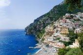 Positano panoramic view, Amalfi coast, Italy — Stock Photo