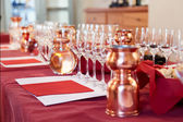Professional winetasting event — Stock Photo