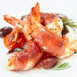 Shrimps with bacon, olives and rosemary — Stock Photo #62746703