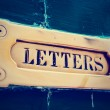 Letter box close-up, toned — Stock Photo #65486939