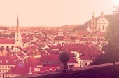 Downtown of Prague, toned image — Stock Photo