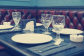 Table setting in a pub, toned image — Stock Photo