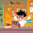 Kid scientist — Stock Vector #56116071