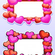 Two frames with hearts — Stock Vector #64908869