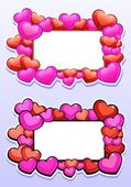 Two frames with hearts — Stock Vector