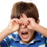 Young boy yawning — Stock Photo #63942317