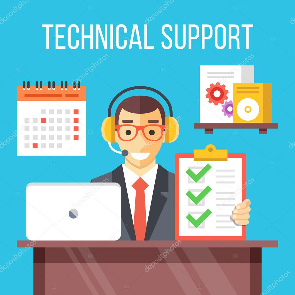technical support specialist at work call center agent in